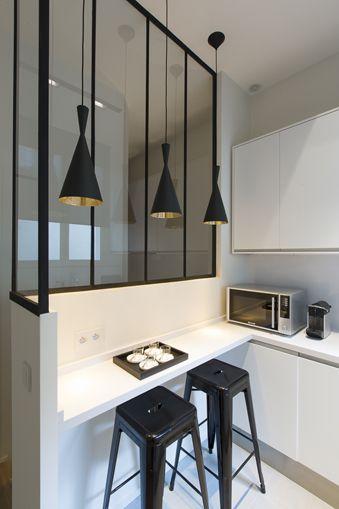 Une cuisine atelier inspirante for Verriere industrielle cuisine
