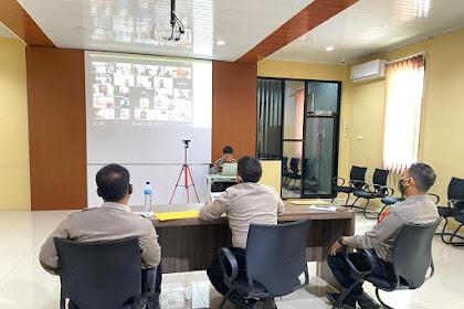 Hari Terakhir Verifikasi Online,  Panitia Daerah Penerimaan Terpadu Calon Anggota Polri T.A. 2020 Polda Sulsel Gelar Vicon