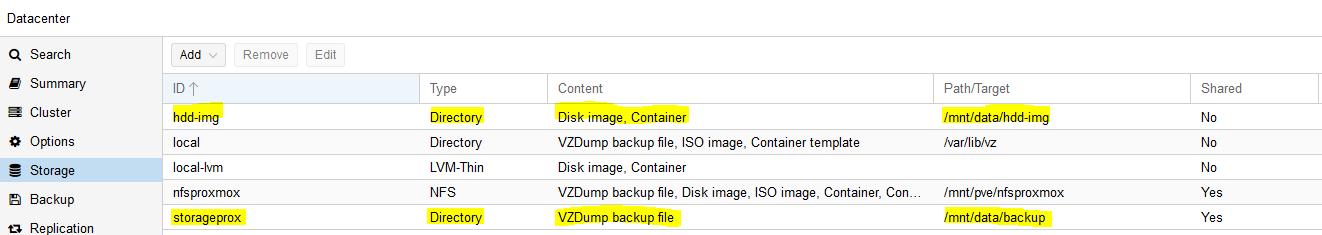 Menambahkan Storage di Proxmox