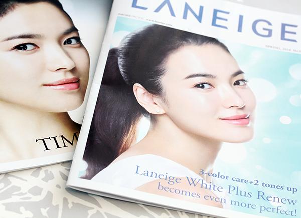 song hye kyo, laneige magazine