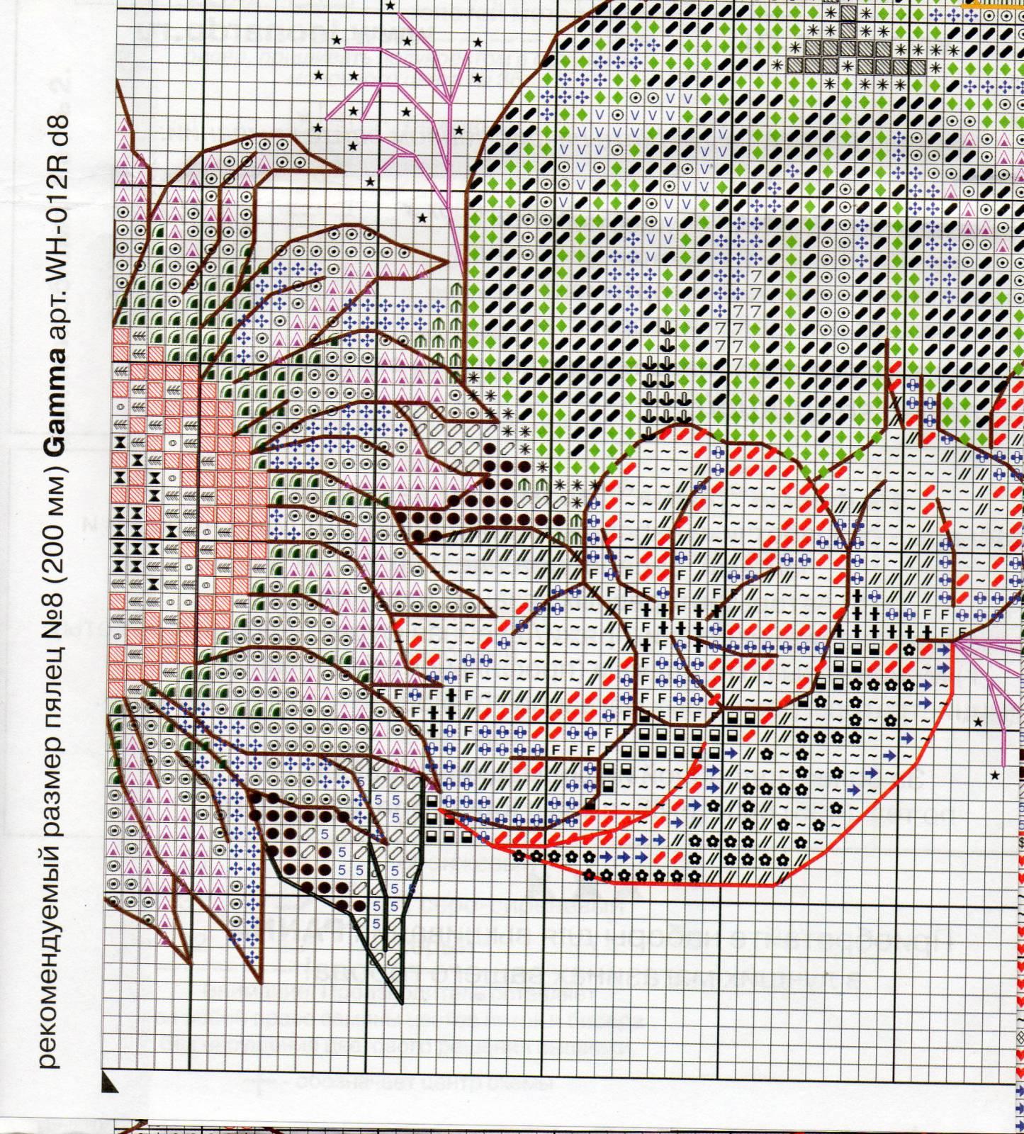Венок изобилия. Схемы вышивки (5)