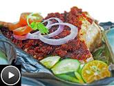 bbq stingray with sambal