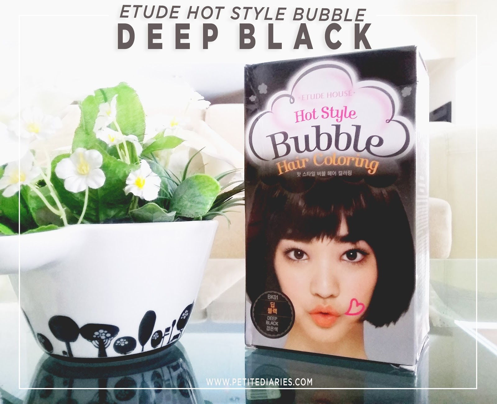 etude house deep black bubble hair coloring review