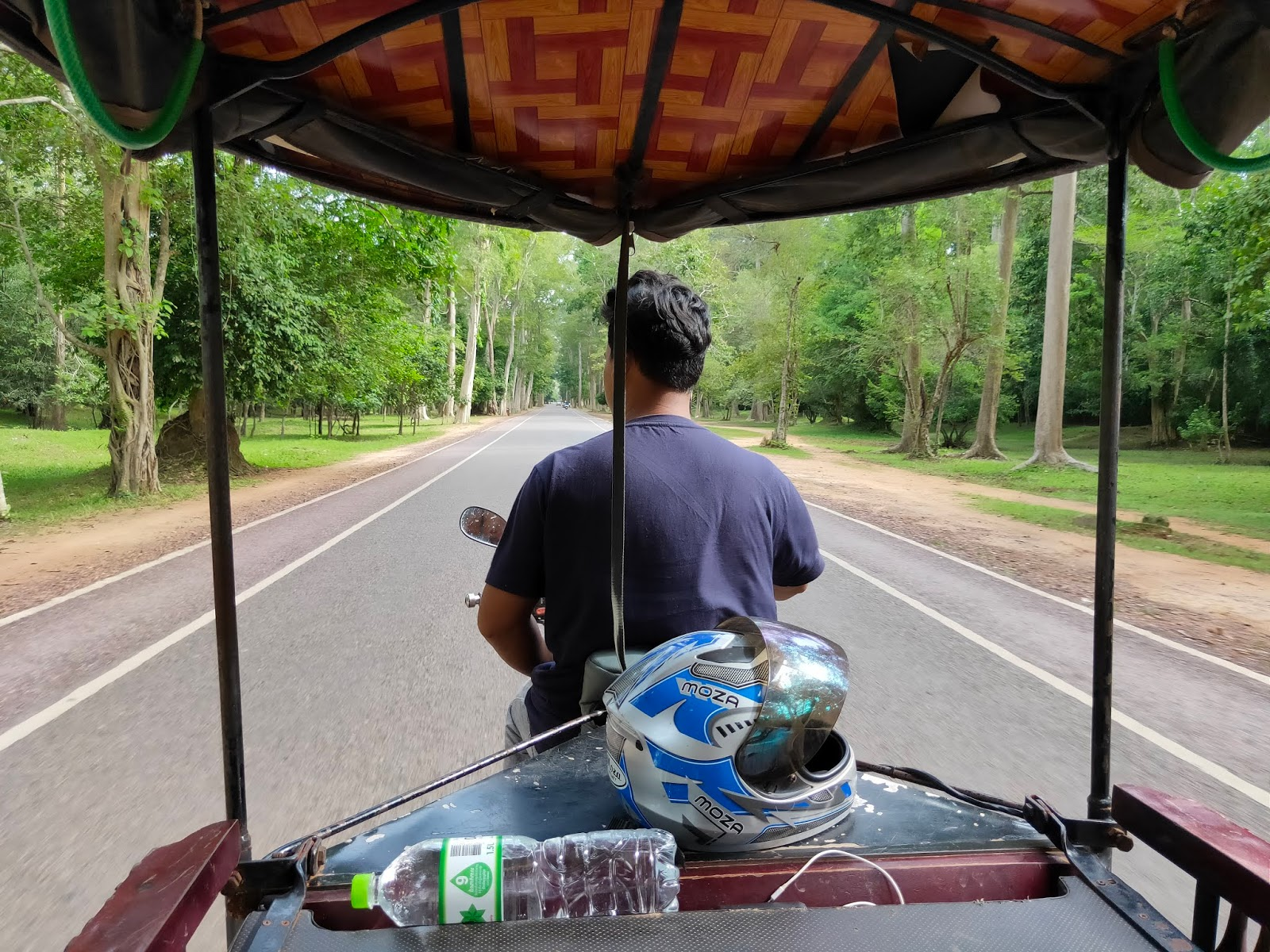 riding in angkor wat