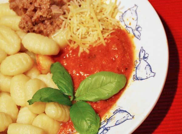 Gnocchi, Tuna and Ricotta