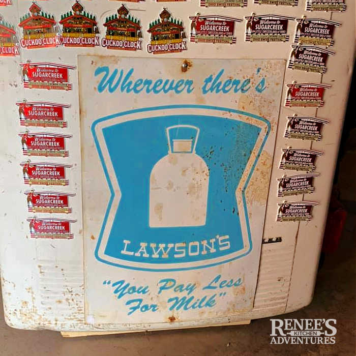 Image of an old Lawson's sign from NE Ohio found in an antique store in Sugarcreek, OH