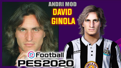 PES 2020 Faces David Ginola by Andri Mod