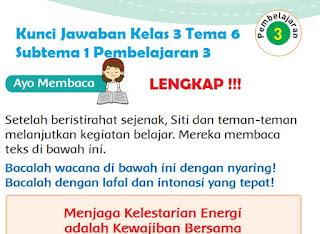 Kelas 3 Tema 6 Subtema 1 Pembelajaran 3 www.simplenews.me