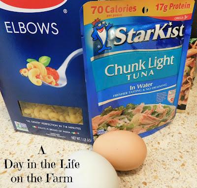 ingredients for Macaroni Tuna Salad