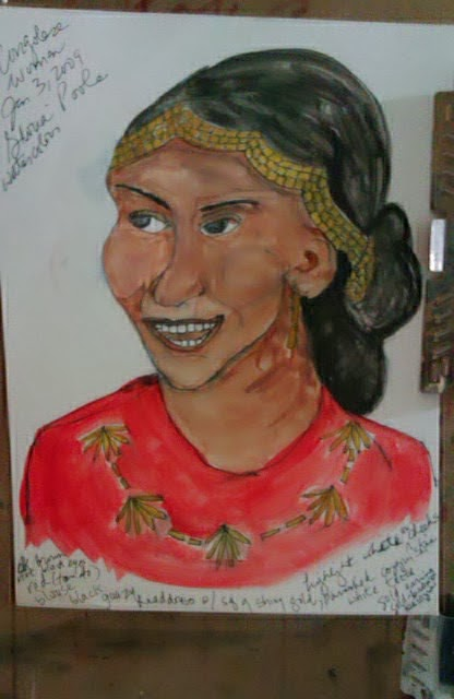 """Congolese ethnic sketch "" by Gloria Poole"