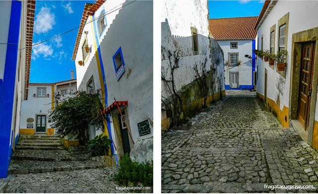 Ruas medievais da cidade de Óbidos, Portugal
