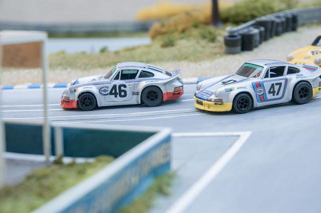 Slot Car h0 AFX Porsche 911RSR modifiziert
