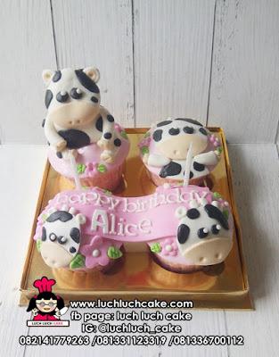 Cupcake Ulang Tahun Tema Sapi
