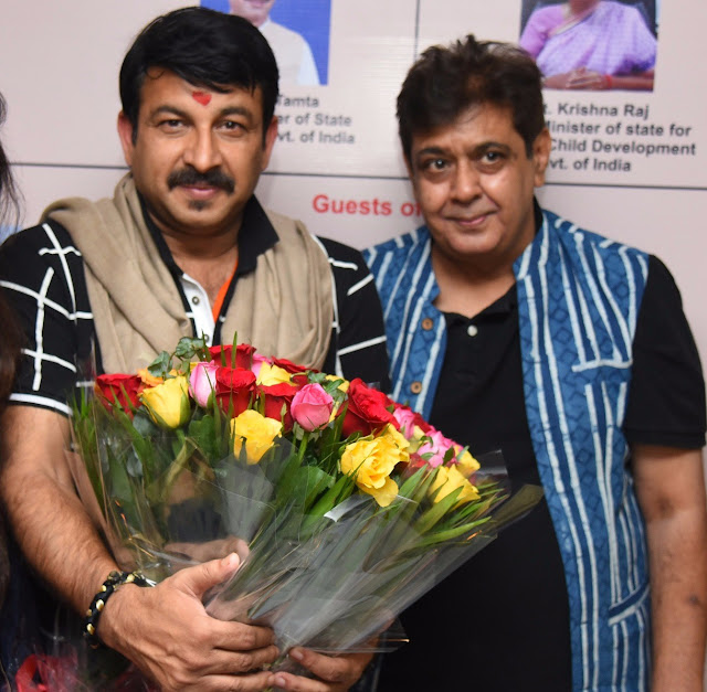 Manoj Tiwari and Tarun Sarda