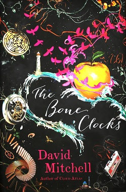 Book cover for The Bone Clocks in Didsbury book group
