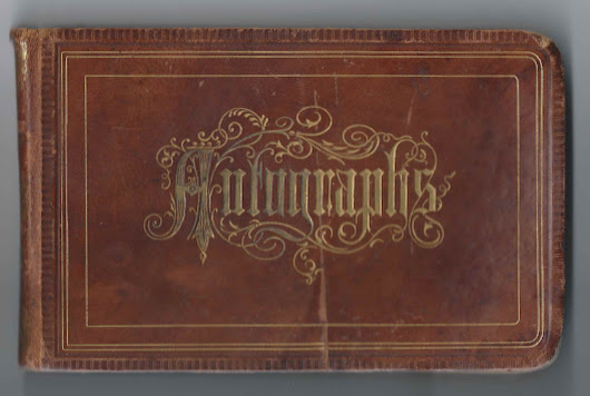 Autograph Album Presented in 1878 to Eva A. Pomroy of Bangor, Maine, by Future Husband George W. Coffin