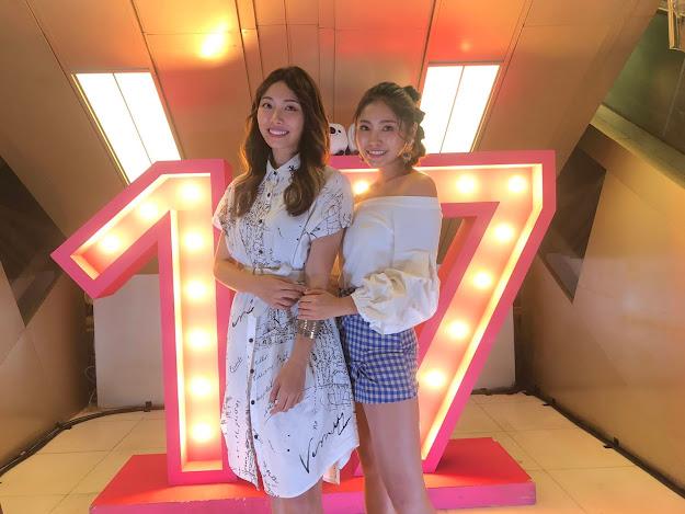 劉恬君(左)和楊淨宇開心有機會合作演出