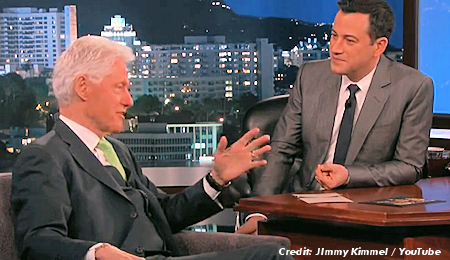Former President Bill Clinton Discusses Secret UFO Files, Roswell & Area 51 on Jimmy Kimmel