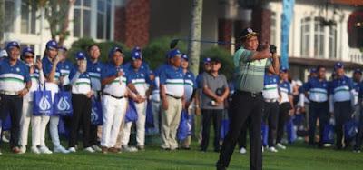 Menpora Zainudin Amali membuka Turnamen Golf GAPENSI 2020 dalam rangka ulang tahun GAPENSI ke 61 di Emeralda Golf Club, Cimanggis, Depok, Jawa Barat.