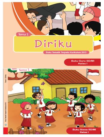 Buku Guru dan Siswa Paket Tematik K-2013 Kelas 1 SD/MI Lengkap