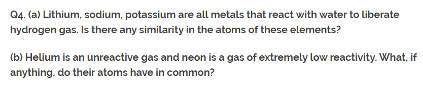 Class 10th Ch-5 Ncert Questions Answer Periodic Table Q4.