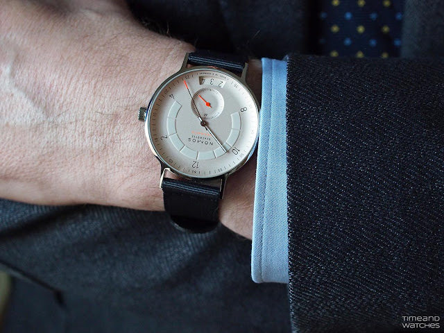 Wristshot of the Nomos Glashütte Autobahn