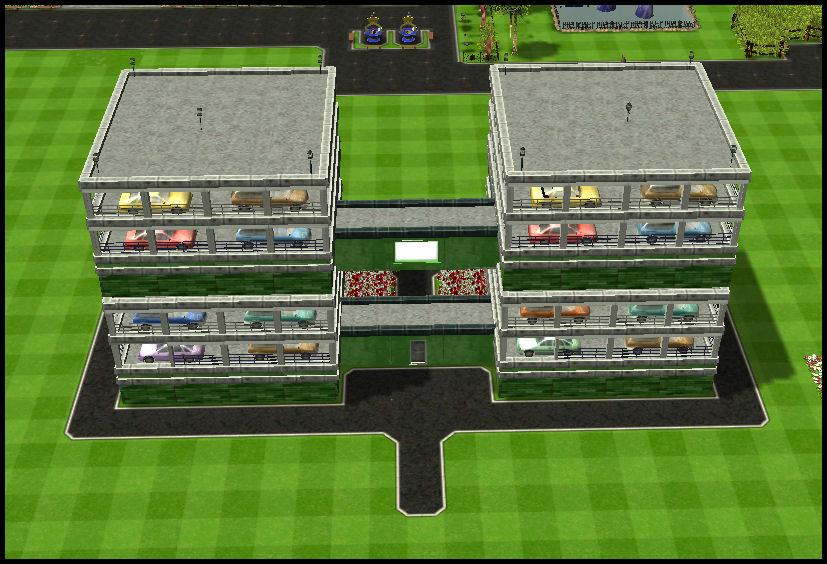 Roller Coaster Tycoon 3 Downloads: RCT3 Garage 1 Floor Green Structure