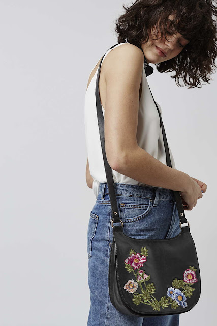 stella mccartney copy flower bag, flower embroidered leather bag,