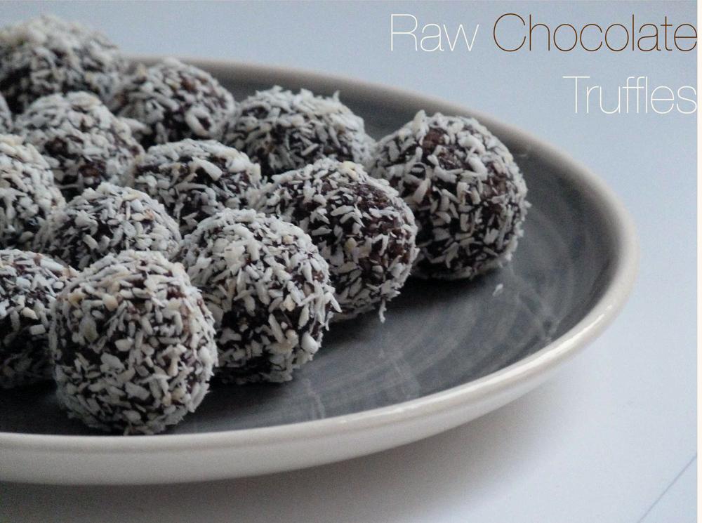 My Sugar Is Raw Raw Chocolate Truffles Tartufi Al