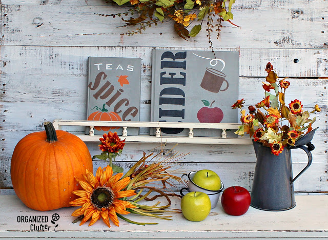 Photo of fall themed book makeovers