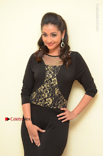 Telugu Actress Manasa Manohar Stills in Black Long Dress at Naku Nene Thopu Turumu Trailer Launch  0068.JPG