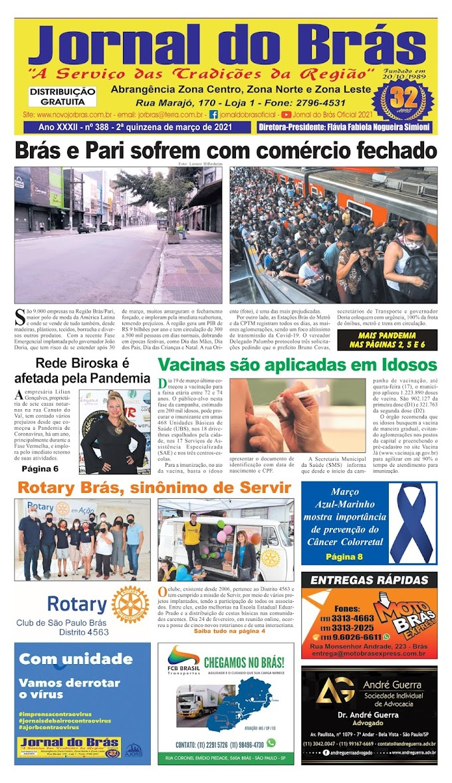 Destaques da Ed. 388 - Jornal do Brás