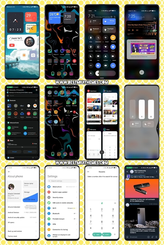 Miracle Extended Miui 12 Theme download || Best Miui 12 Themes Download || Xiaomi Themes