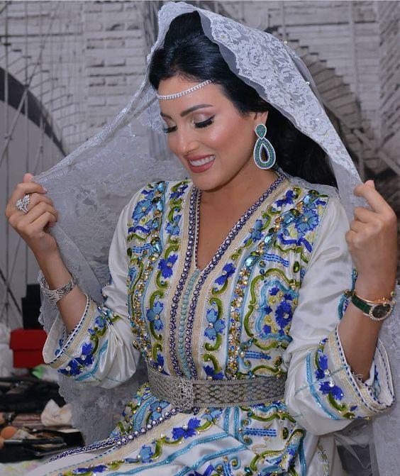 caftan mariage de luxe perlé pas cher