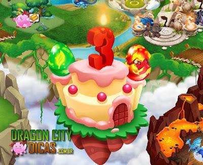 Ilha do 3° Aniversário do Dragon City - Informações