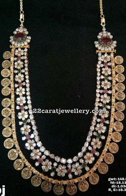 Floral Lakshmi Haram 148 Grams