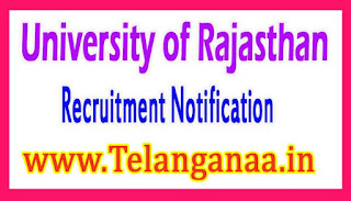 University of Rajasthan Recruitment Notification 2017