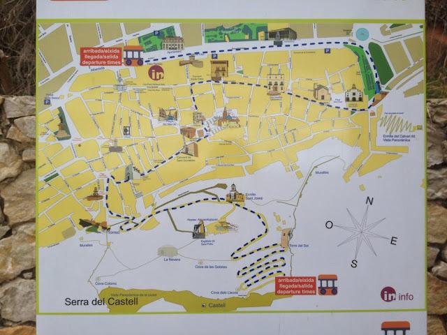 qué ver en Xátiva, mapa con lugares turísticos