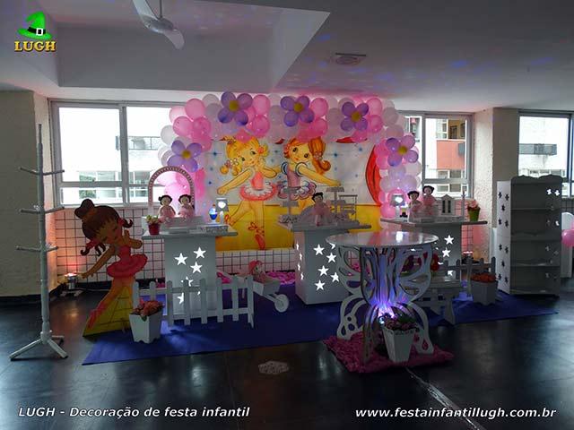 Decoração de mesa de aniversário tema Bailarinas - Festa infantil feminina - Provençal simples