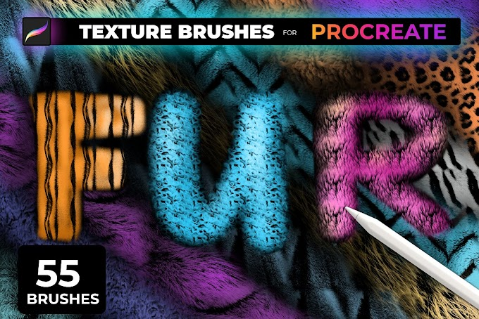 FUR TEXTURE Brushes for PROCREATE 5472665