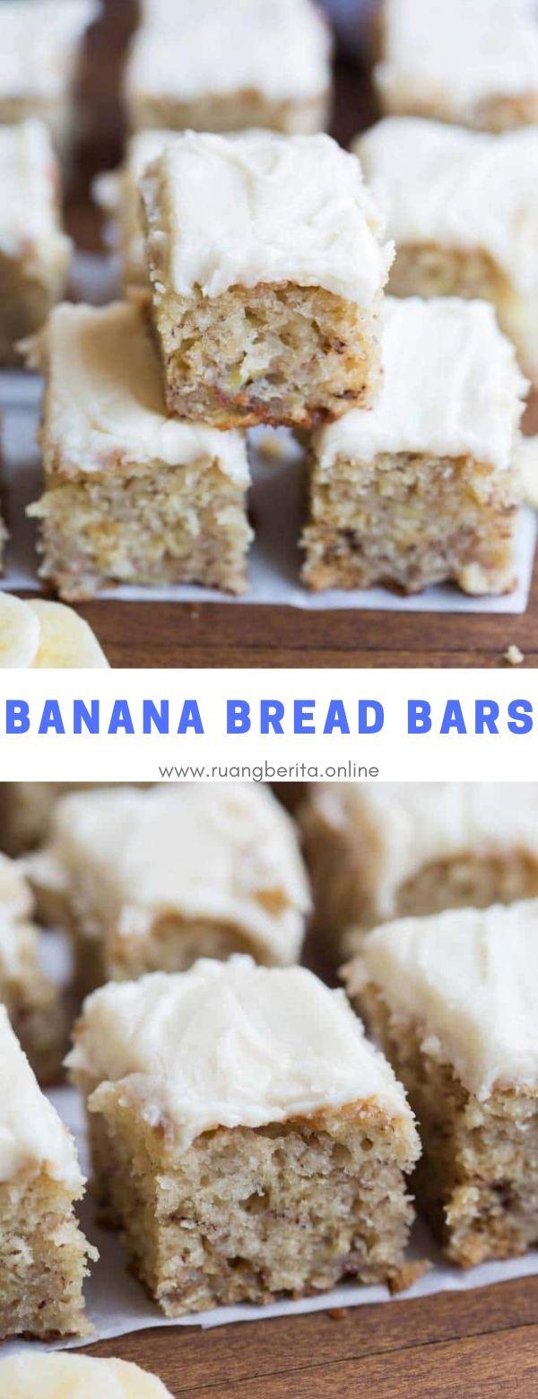 Banana Bread Bars #snack #dessert #banana #bread #bars