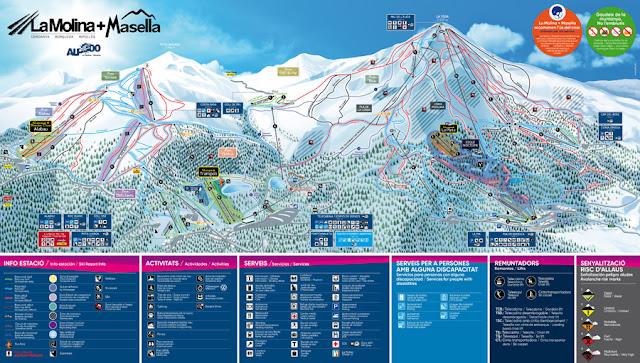 Mapa de pistas Alp 2500