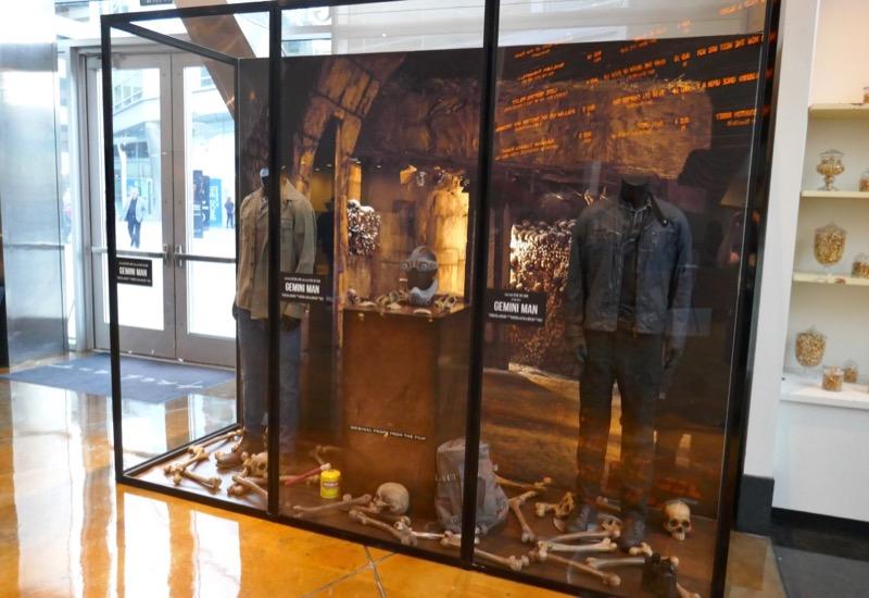 Gemini Man costume and prop exhibit