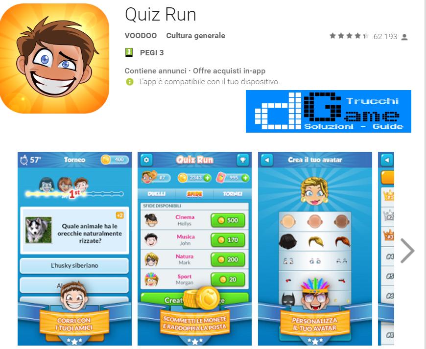 Soluzioni Quiz Run di tutti i livelli | Walkthrough guide