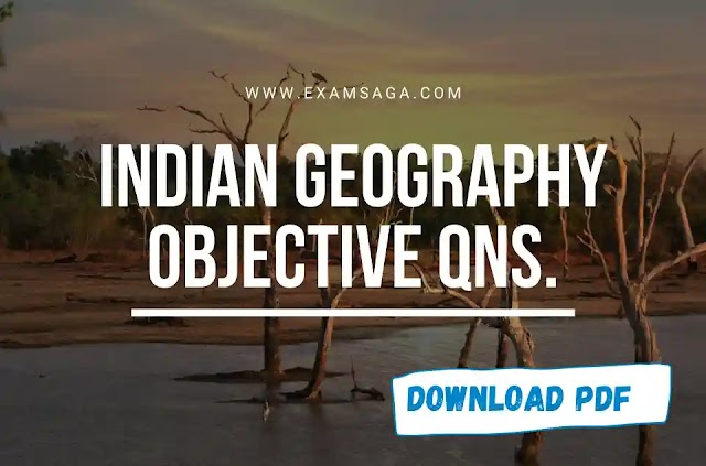 Indian Geography Objective Question Pdf English Download For Competitive Exams