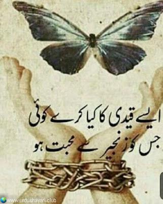 """Aise Qaidy Ka Kya Kary Koi..  Jis Ko Zanjeer Say """"Muhabbat"""" Ho..!!  #sadshayari #broken"""