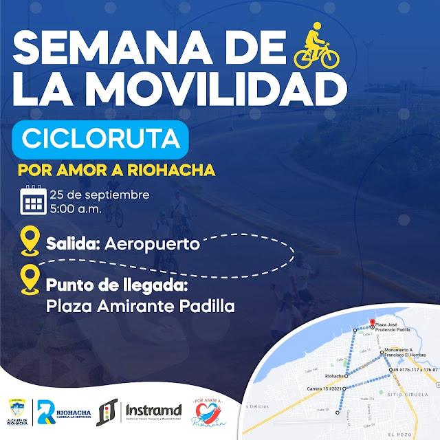 hoyennoticia.com, Ciclo Ruta en Riohacha para celebrar Semana de la Movilidad