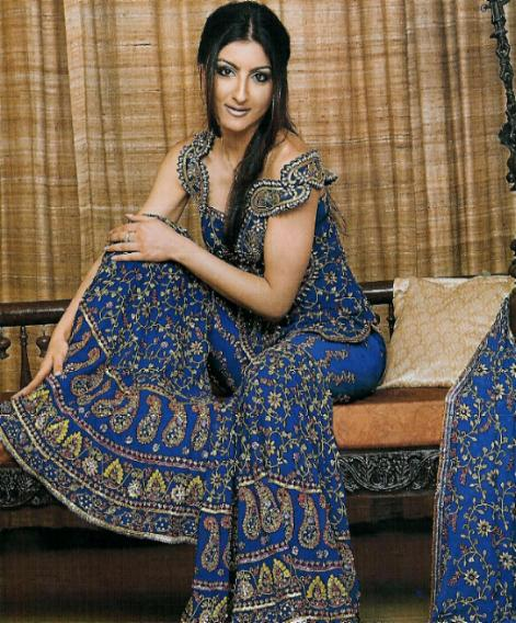 Indian Actress Soha Ali Khan Transparent Green Saree Full -2365