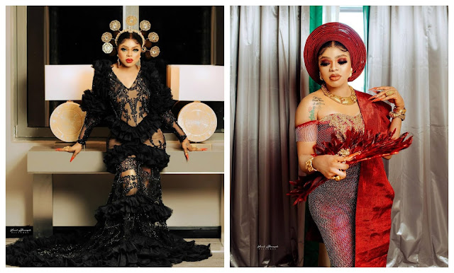 Crossdresser Bobrisky shows off the Naira notes he was gifted on his 30th birthday party (Video)