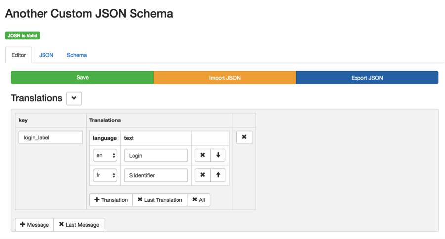 AEM & Schema Based JSON Editor